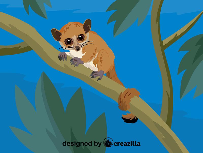 Madame Berthe's mouse lemur vector