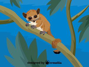 Immagine vettoriale di Madame Berthe's mouse lemur