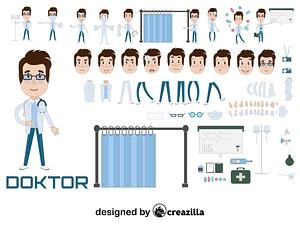 Immagine vettoriale di Okay Doc character constructor