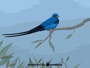 Immagine vettoriale di Blue swallow