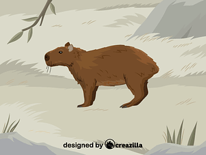 Immagine vettoriale di Lesser capybara