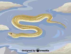 Immagine vettoriale di Beaked sea snake