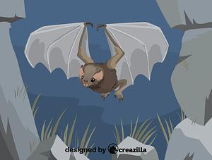 Immagine vettoriale di Hairy-legged vampire bat