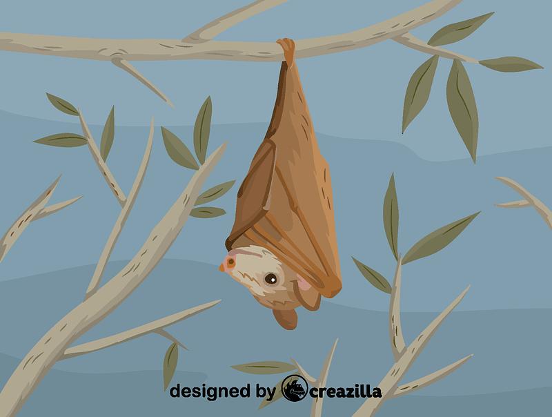 Buettikofer's epauletted fruit bat vector