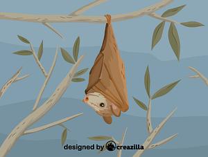 Immagine vettoriale di Buettikofer's epauletted fruit bat