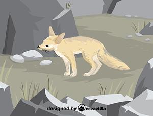 Immagine vettoriale di Pale fox