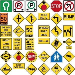 342 Road Signs of Canada vector
