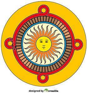 Aztec Calendar Stone vector
