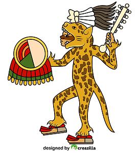 Aztec Jaguar Warrior vector