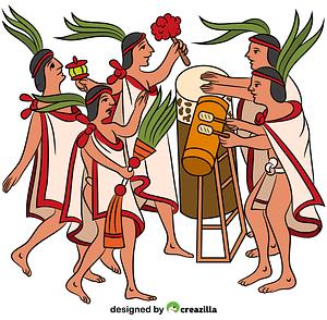 Aztec One Flower Ceremony vector