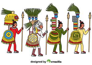 Aztec Warriors vector