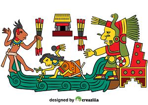 Chalchiuhtlicue Aztec Goddess of Water vector