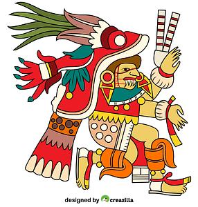 Chantico Aztec Goddess of Fires vector