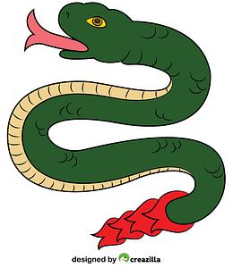 Coatl Aztec Snake from Calendar vector