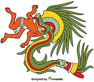 Quetzalcoatl Aztec God vector