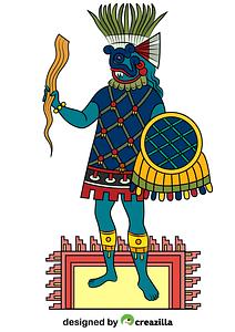 Tlaloc Aztec God of Rain, Fertility and Water vector