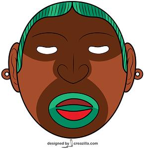 Aztec God Xipe Totec Mask vector