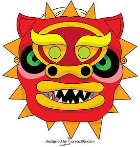 Chinese Dragon Mask vector