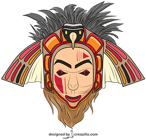 Native American Eagle Mask vector