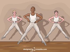 Boy Ballet vector