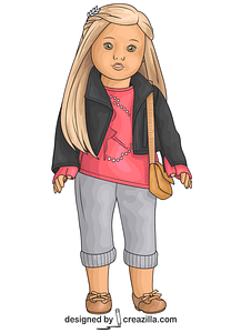 American Girl Isabelle Doll vector