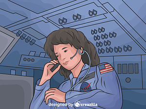 Sally Ride - America's First Woman Astronaut vector