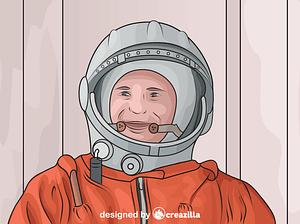 Yuri Gagarin - First Human in Space vector