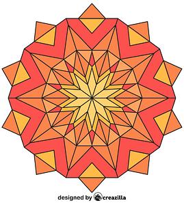 Kaleidoscope 01 vector