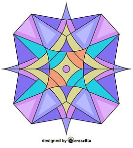 Kaleidoscope 03 vector