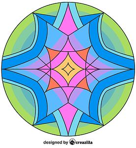 Kaleidoscope 04 vector