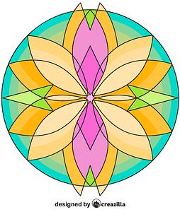 Kaleidoscope 05 vector