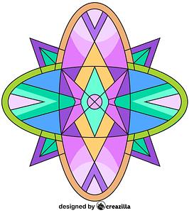 Kaleidoscope 06 vector