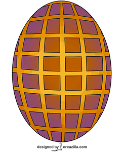 Egg mosaic vector