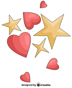 Hearts and Stars vector