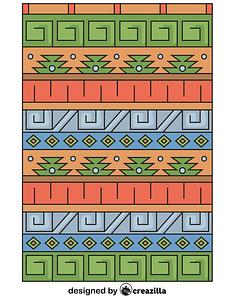 Inka pattern vector