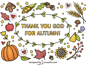 Thank You God for Autumn vector
