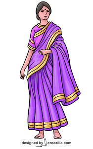 Girl in Sari vector