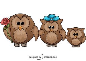 Three Owls vector