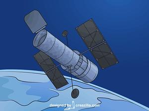 Hubble Space Telescope vector