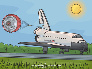 Space Shuttle Endeavour Landing vector