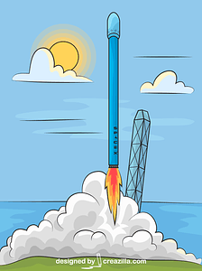 SpaceX Falcon 9 Rocket Launch vector