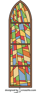Stained Glass Window from Anglican Church vector