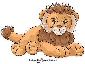 Webkinz Lion vector