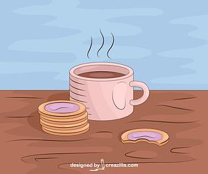 Coffee Breakfast vector