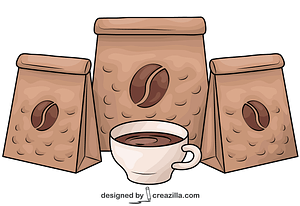 Coffee Packages vector