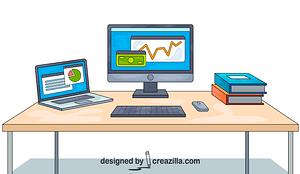 Business Desk vector
