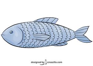 魚 ベクターイメージ狐
