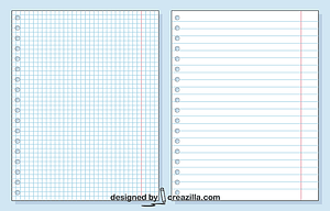 Sheets of Notebooks vector
