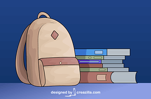 School Books and Backpack vector