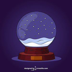 Snow Glass Ball vector